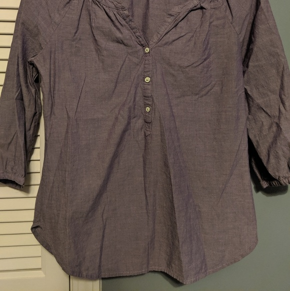 Old Navy Tops - Old Navy XS cotton purple top 3/4 sleeves